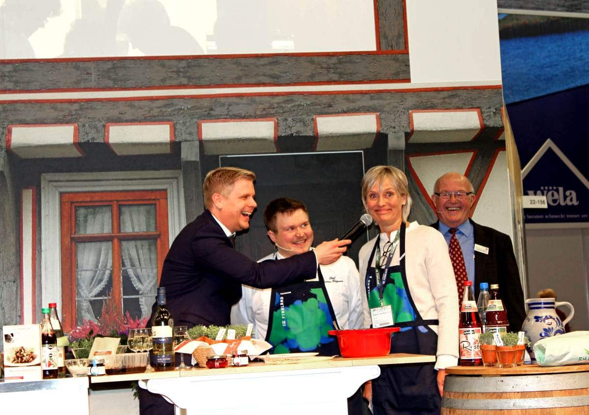 Hessian-Finnish cooking event at IGW 2019
