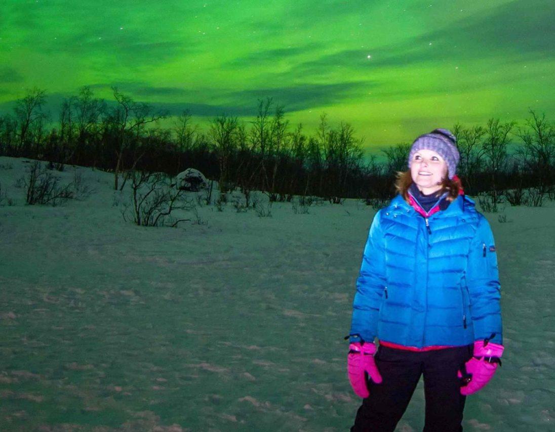 Kristin Recke erblickt das Nordlicht