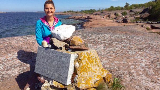 Kristin Recke am südlichsten Zipfel Finnlands in Hanko