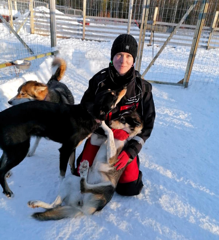 Lydia mit Hunden