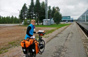 Mady Host mit Fahrrad