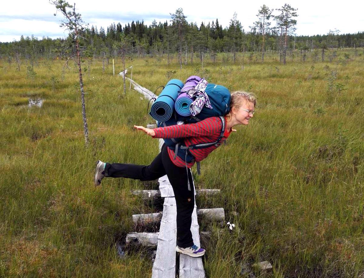 Marianna Schuchmann in der finnischen Natur
