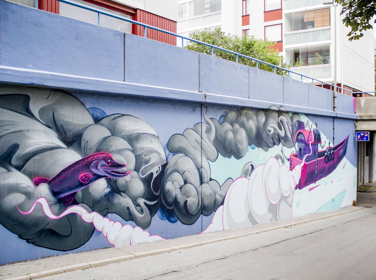 Pasila Street Art Kunstwerk Fat Heat von TransOne