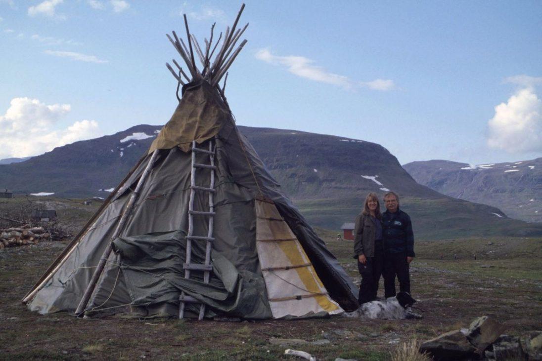 Ein Lavvu - eine samische Kota