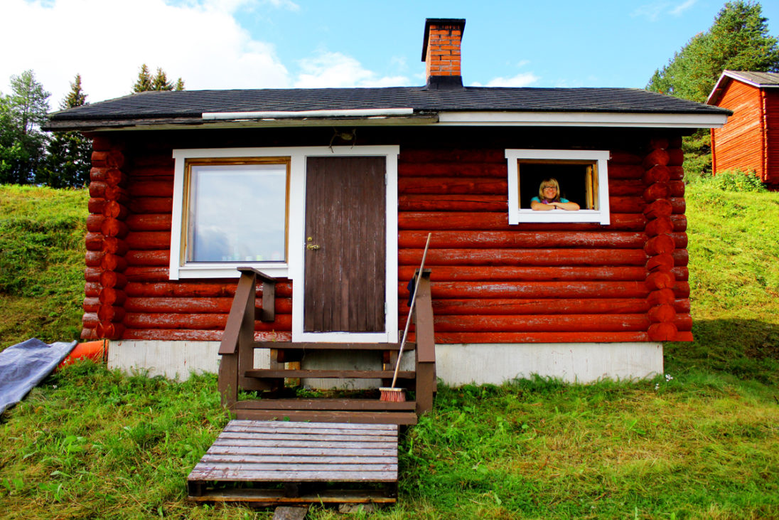 Mady Host und die finnische Sauna