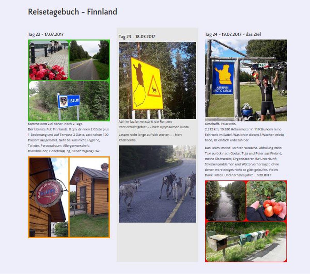 Screenshot Webseite Radtour Wilhelm Robben