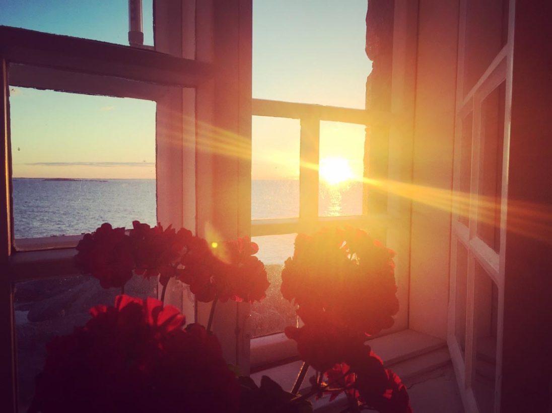 Blick aus dem Fenster vom Leuchtturm Bengtskär