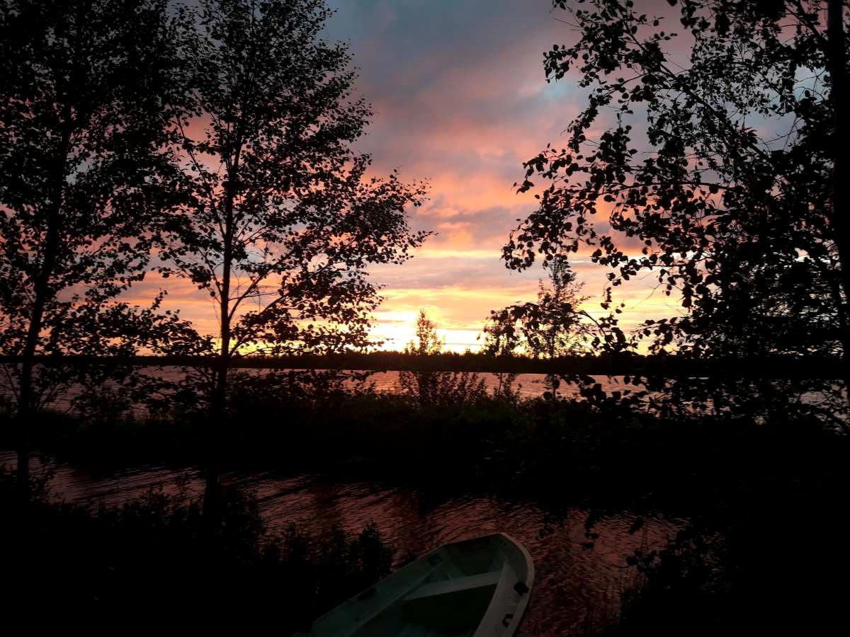 Sonnenuntergang am Mökki