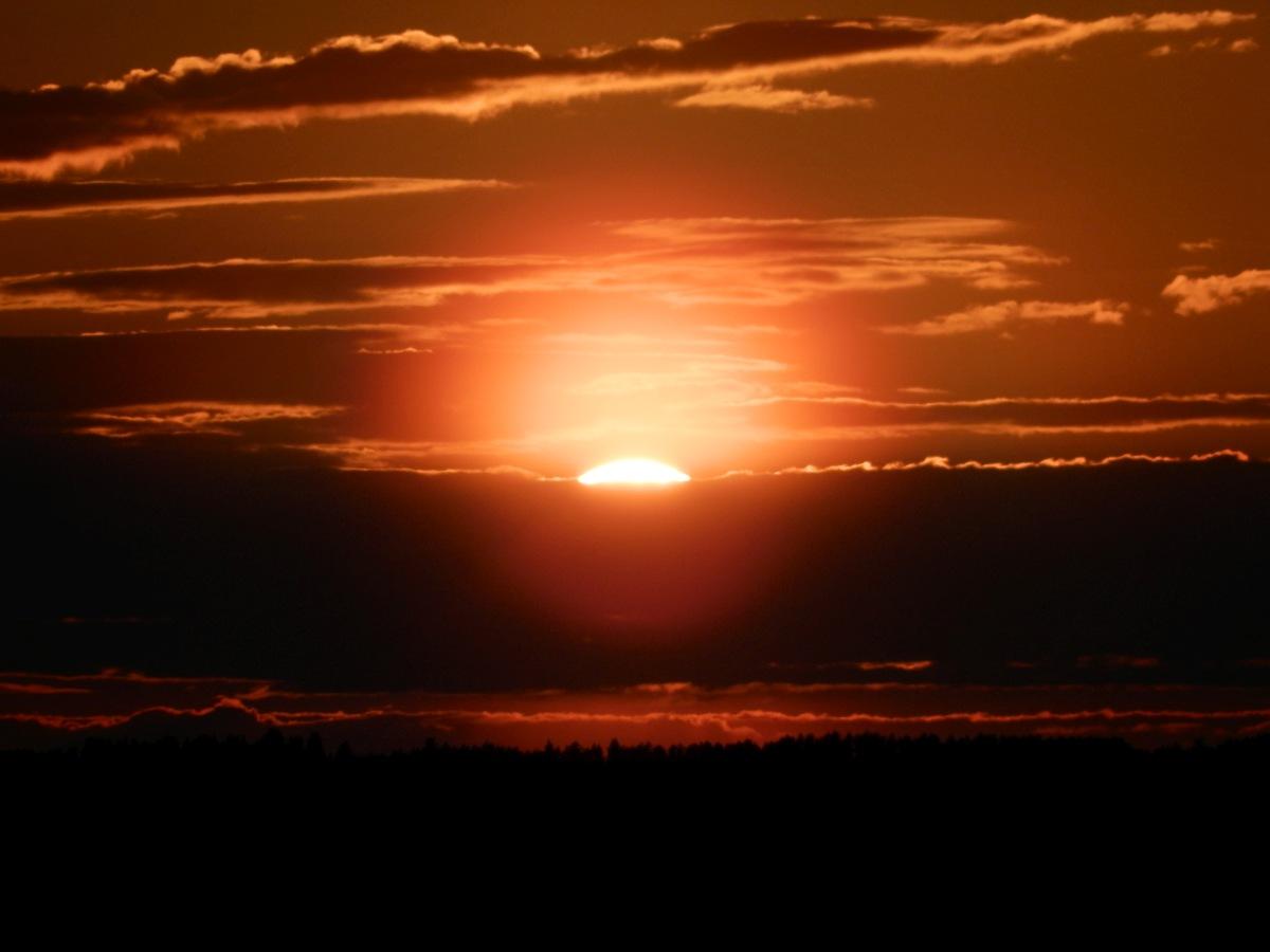 Sonnenuntergang Ostfinnland