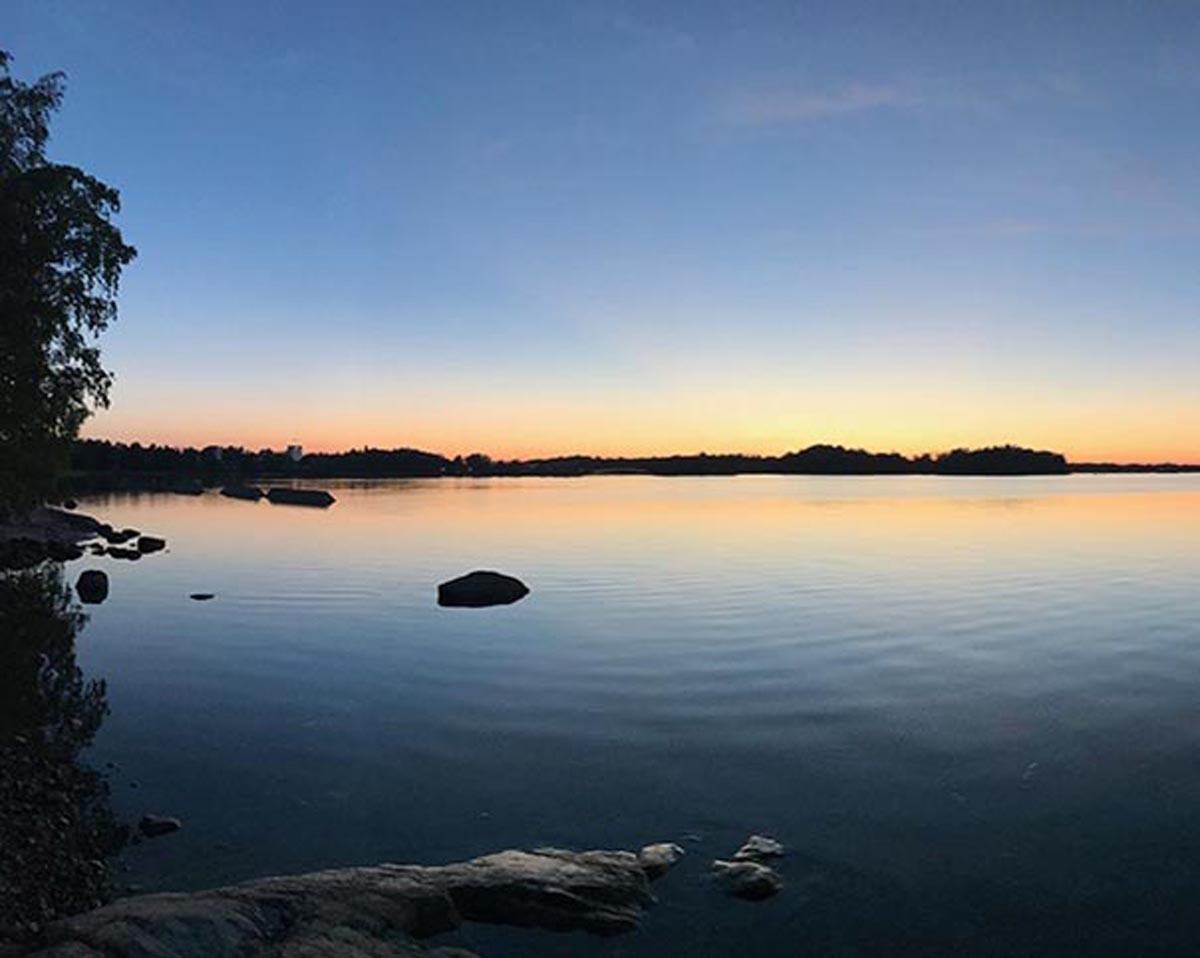 Sonnenuntergang in Helsinki