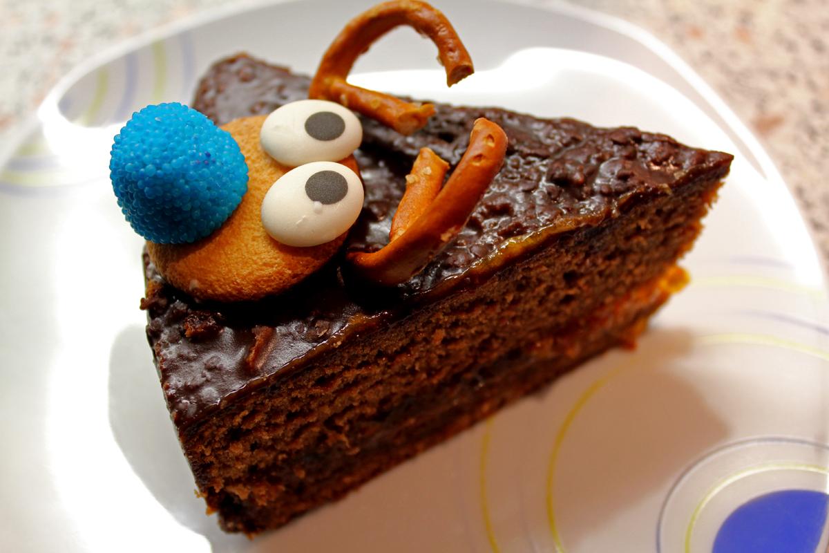 Rentier-Schokoladenkuchen