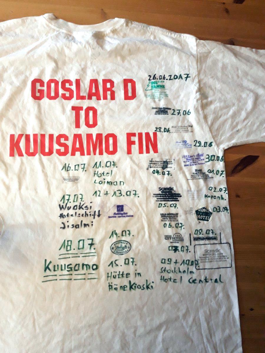 T-Shirt Goslar to Kuusamo