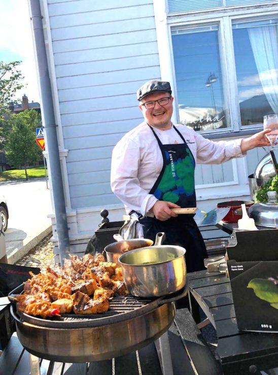 Teemu Kaijanen at his restaurant Vaiha in Mikkeli