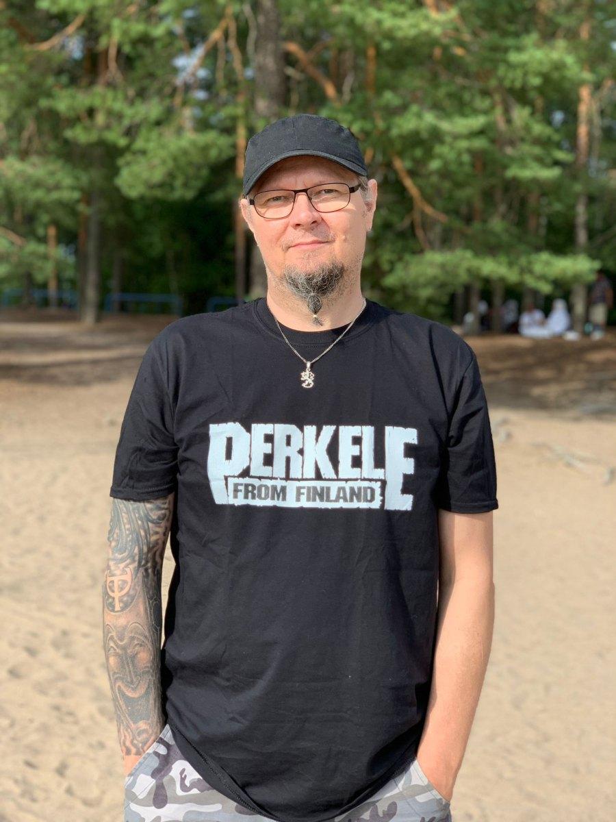 Tero Tolkki - perkele-from-finland T-shirt (c) Laurali Failla