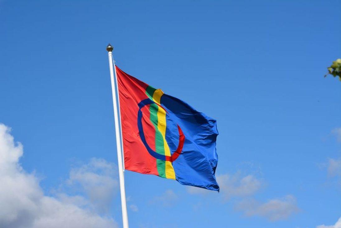 Die Nationalflagge der Samen