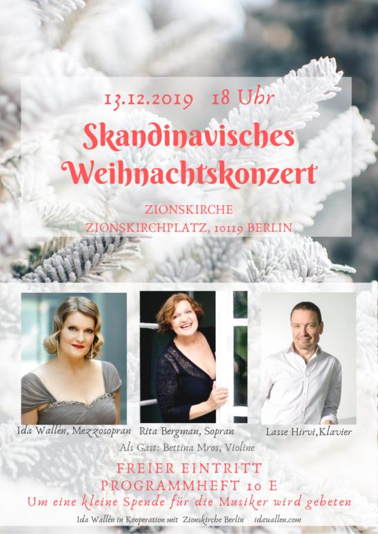 Skandinavisches Weihnachtskonzert Berliner Zionskirche