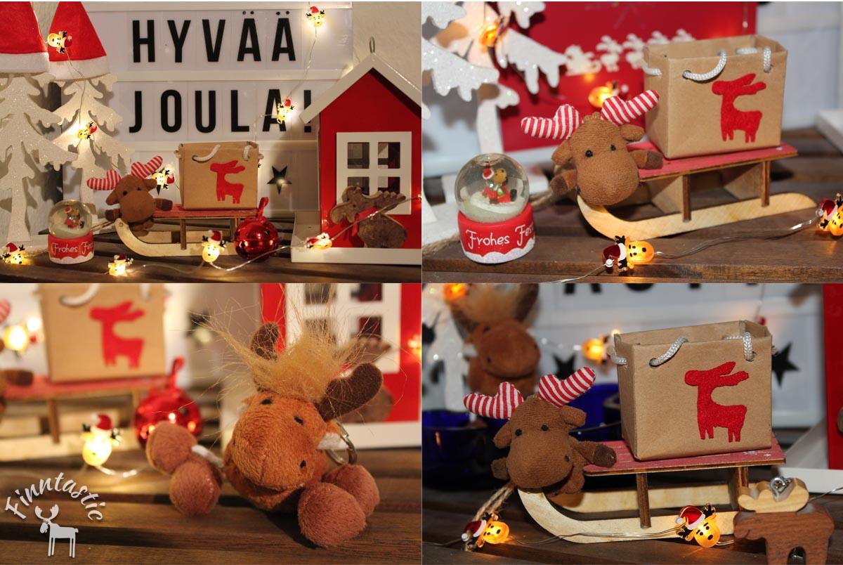 (FOTOS/Collage: Finntastic) Ho, ho, ho...Janne-Oskari und seine Elchfreunde freuen sich schon sehr auf ein finntatisches Weihnachtsfest!