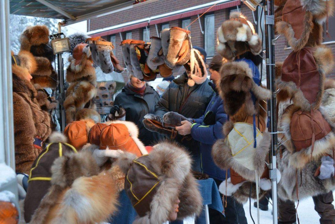 Auf dem samischen Wintermarkt in Jokkmokk